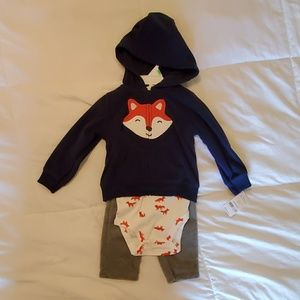 NWT 3PC Fox Set 18 mo